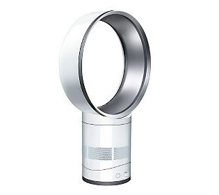 """Dyson air mu  Tip lire 12"""" round oscillating table top fan. Crazy expensive but an amazing fan, GREAT airflow, QUIET, and EXTREMELY easy to clean! I have owned more fans than I can count and this, by far, is the best! I got mine on hsn.com with """"easy pay"""" qvc.com also offers an interest free payment plan so you don't have to pony up the whole 300.00 at once."""