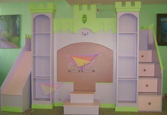 Pin by camas y literas kidsworld on recamaras de princesas - Caballeros y princesas literas ...