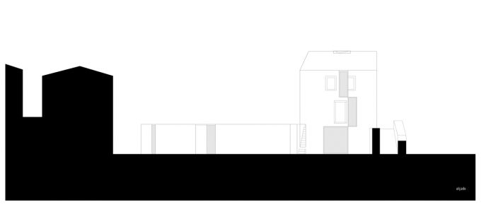 Elevation, House in Alcobaça by Aires Mateus