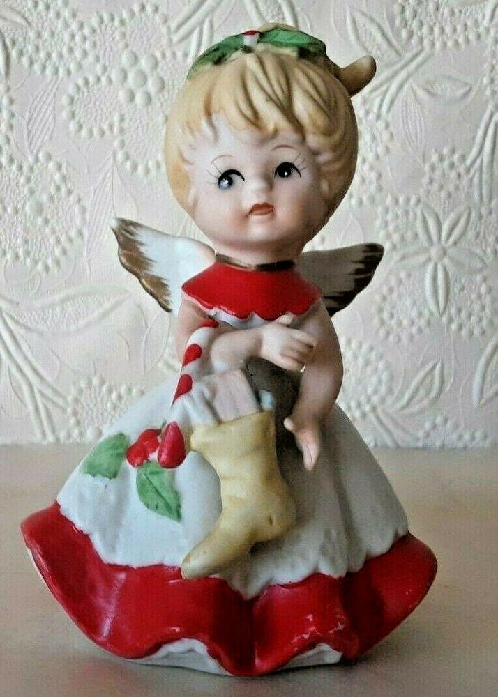 Taiwan Christmas 2020 Homco Vintage Christmas Angel Figurine 5402 Made in Taiwan   eBay