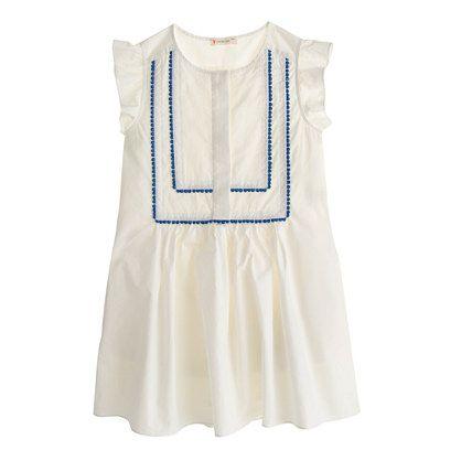 Girls' pom-pom bib dress - dresses - Girls' new arrivals - J.Crew