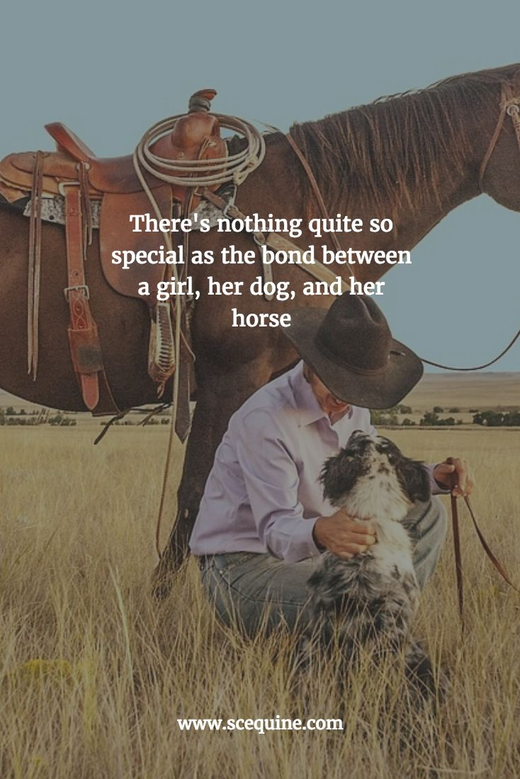 There's nothing quite so special as the bond between a girl, her dog, and her horse