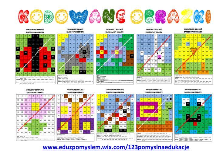 Wiosenne obrazki zakodowane w tabeli z liczbami 1-100. Karty do DARMOWEGO pobrania. Aby odkryć ukryty obrazek, uczniowie zamalowują kratki na kolor przypisany odpowiednim liczbom. KODOWANE OBRAZKI doskonale sprawdzą się jako zadanie dodatkowe po wykonanej pracy. Jestem pewna, że dzieci je pokochają. ZAPRASZAM http://eduzpomyslem.wixsite.com/123pomyslnaedukacje/single-post/2017/03/29/Kodowane-obrazki