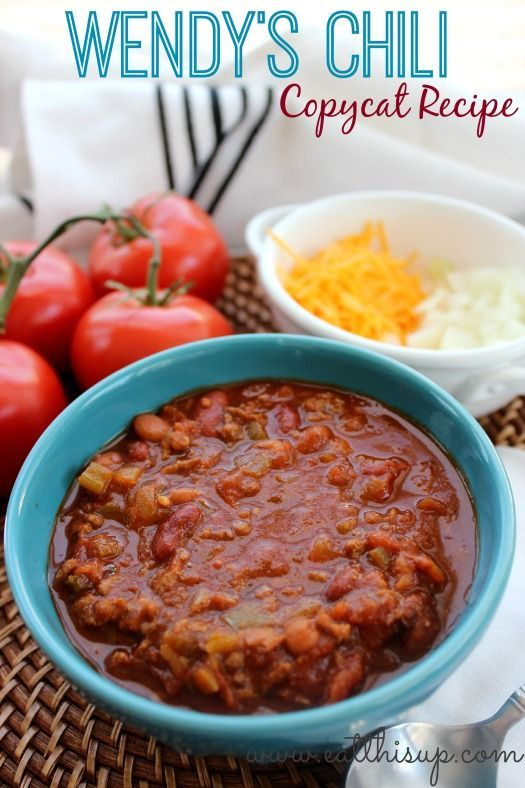 Love Wendy's Chili?  This copycat chili recipe tastes just like it and is a great way to use leftover meat!