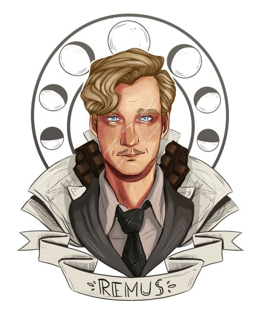 Remus Lupin - I would LOVE to get this shit tattooed on me/