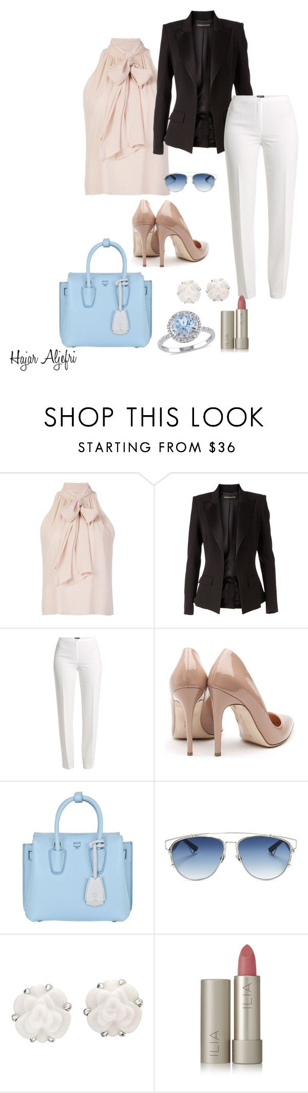 """""""Fashion"""" by hajar-111 on Polyvore featuring Alice + Olivia, Alexandre Vauthier, Basler, Rupert Sanderson, MCM, Christian Dior, Chanel, Ilia and Modern Bride"""