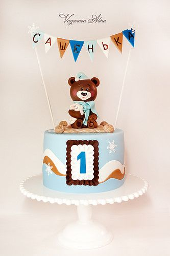 Idea para el pastel del primer cumpleaños del bebé.
