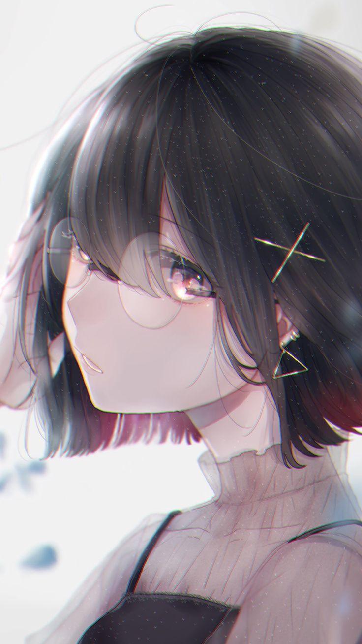 Картинка аниме девушка с каре