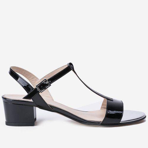 Sandale negre din piele naturala Blake