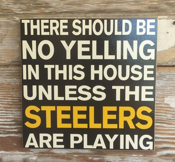 Funny Football Wood Sign - for my brother in law.