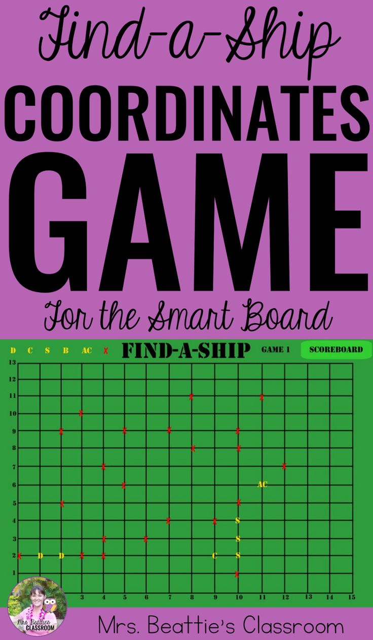 Teaching about coordinate grids in your classroom? In the style of Battleship, this SMART Board activity is a perfect fun and interactive way for your students to learn about and practice using the Cartesian coordinate system!