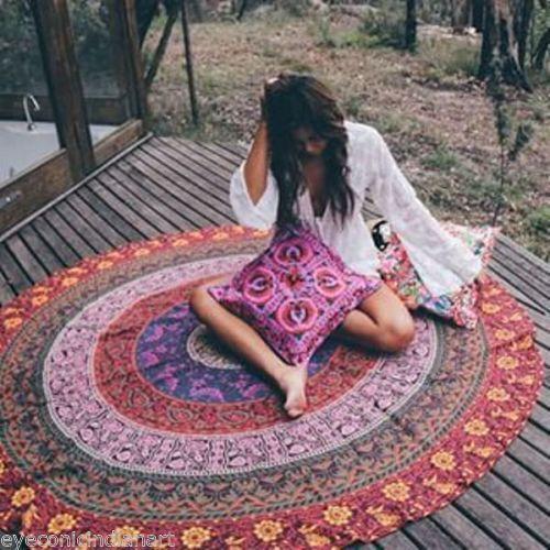 Bettwäsche - Indische Mandala Beach Boho Tischtuch Rundes Handt - ein Designerstück von LindasJewelryStuff bei DaWanda