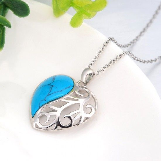 925 silver turquoise necklace wholesale N-0120