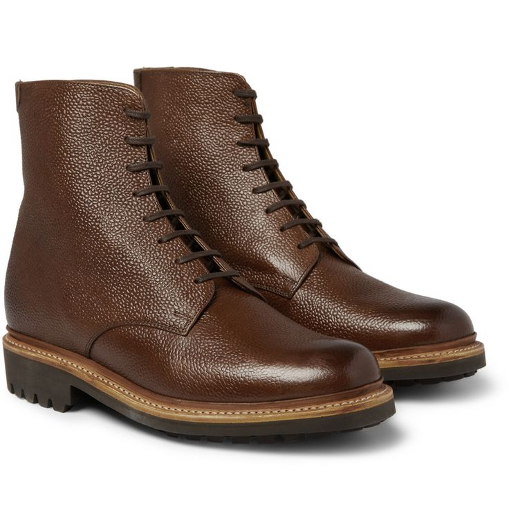 Tod's No_Code Men's Rubber-Sole Leather Boxer Boots These Tod's No_Code  rubber-soled leather boxer boots .
