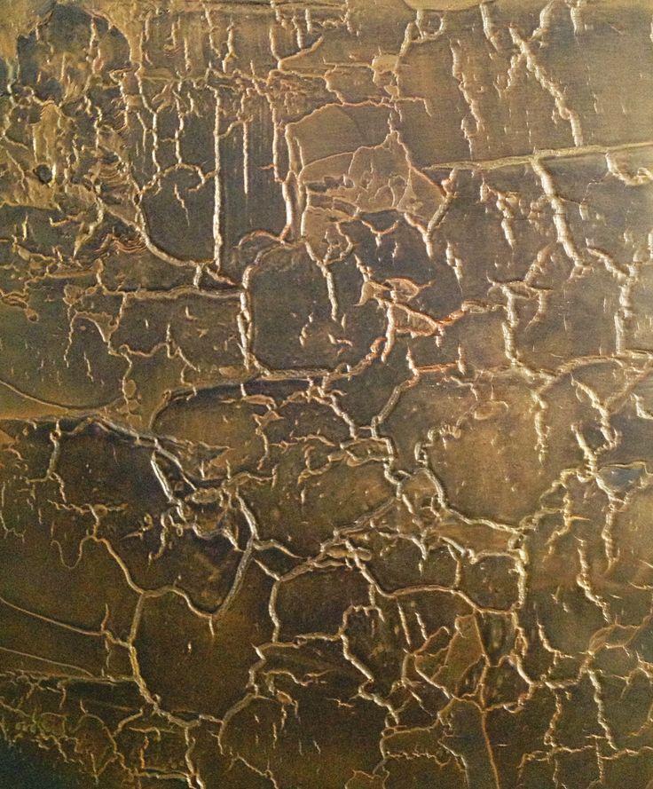 Venetian Plaster Crackle in Black & Gold with a little bit of Bronze    www.crownplaster.com
