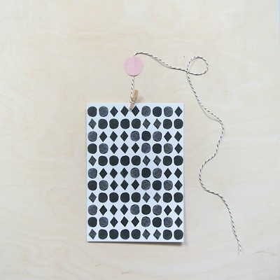 Postcard Dots & Squares - made by