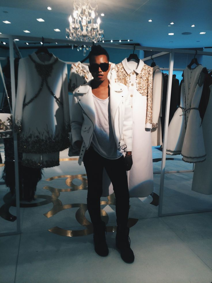 Jay Strut, at his private appointment with Chanel to view their Fall/Winter 2014-15 Haute Couture collection, New York City. New York Fashion Week.