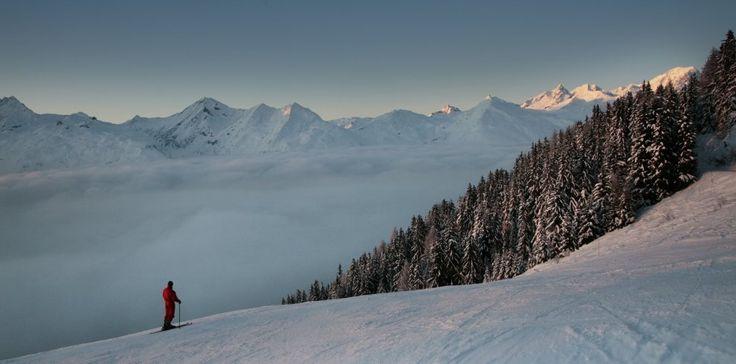 Peaceful scenery at Arc 1800 Ski Resort, France