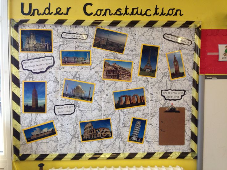 Pictures of famous buildings from around the world to inspire the children when constructing.