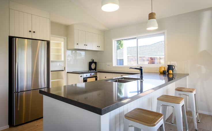 A lovely light and open plan kitchen.