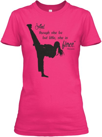 Really cute tees for the fierce karate girl in your family. Check it out! #sheisfierce