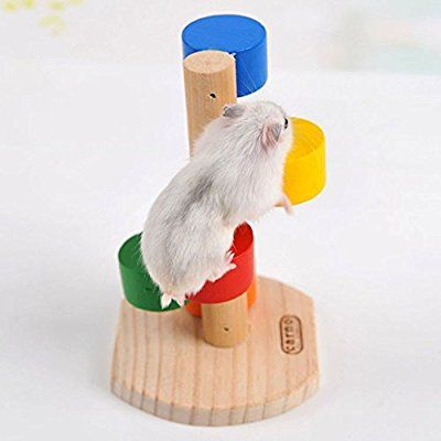 Rainbow Climbing Ladder Toy For Dwarf Hamster Gerbil Rat Chinchillas Guinea Pig Squirrel Small Animal House Cage Toy