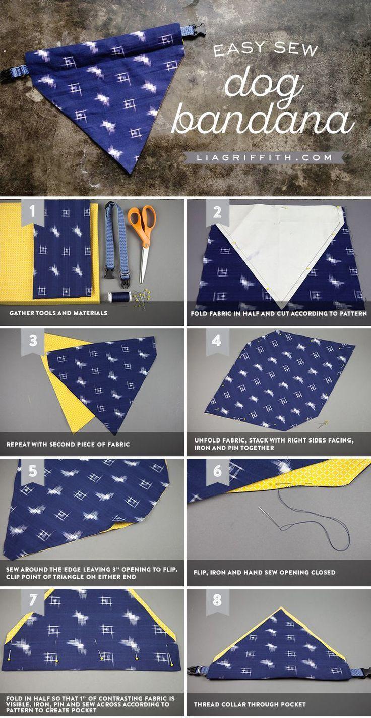 Machen Sie einen einfachen DIY Dog Bandana  #bandana #dogclothes #einen #einfach…