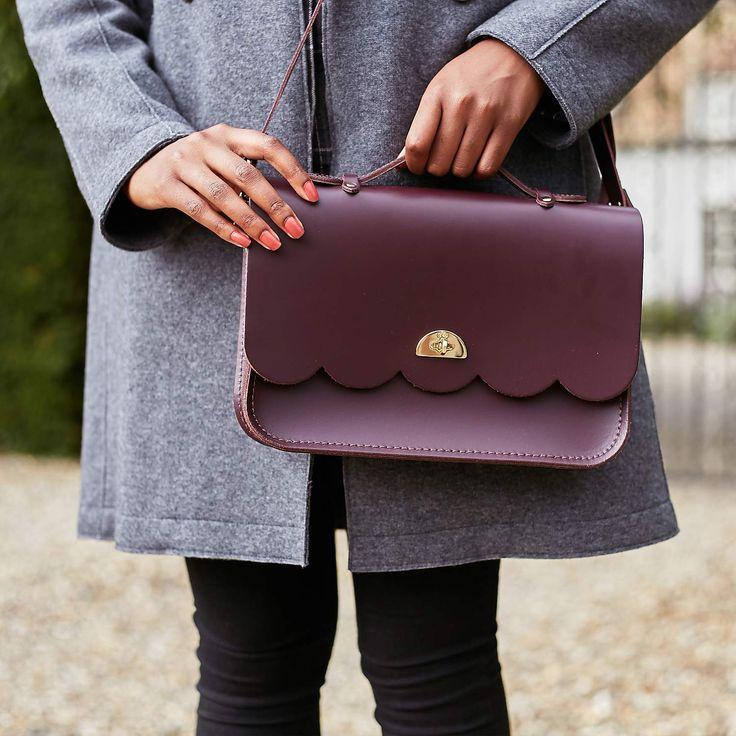 Damson Cloud Bag with Handle | The Cambridge Satchel Company
