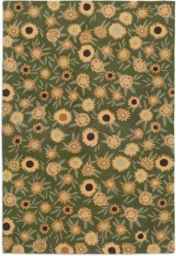 Large Sunflower Area Rug For The Home Floors Walls