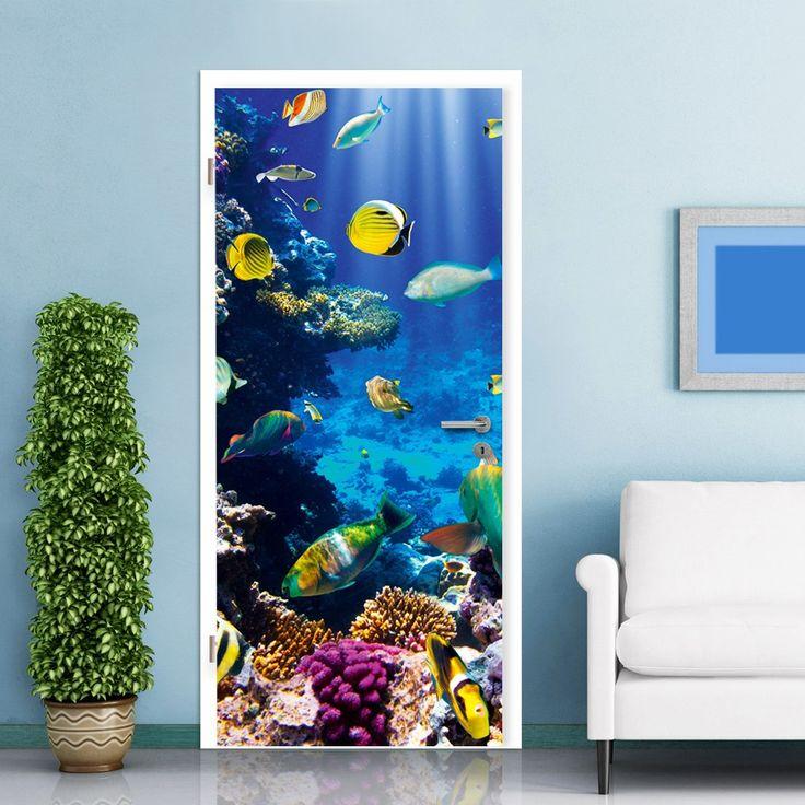 #UNDERWATER PARADISE DOOR #MURAL - A spectacular item for any marine life lover -  sc 1 st  Pinterest & De 7 bästa Creative Door Murals-bilderna på Pinterest pezcame.com