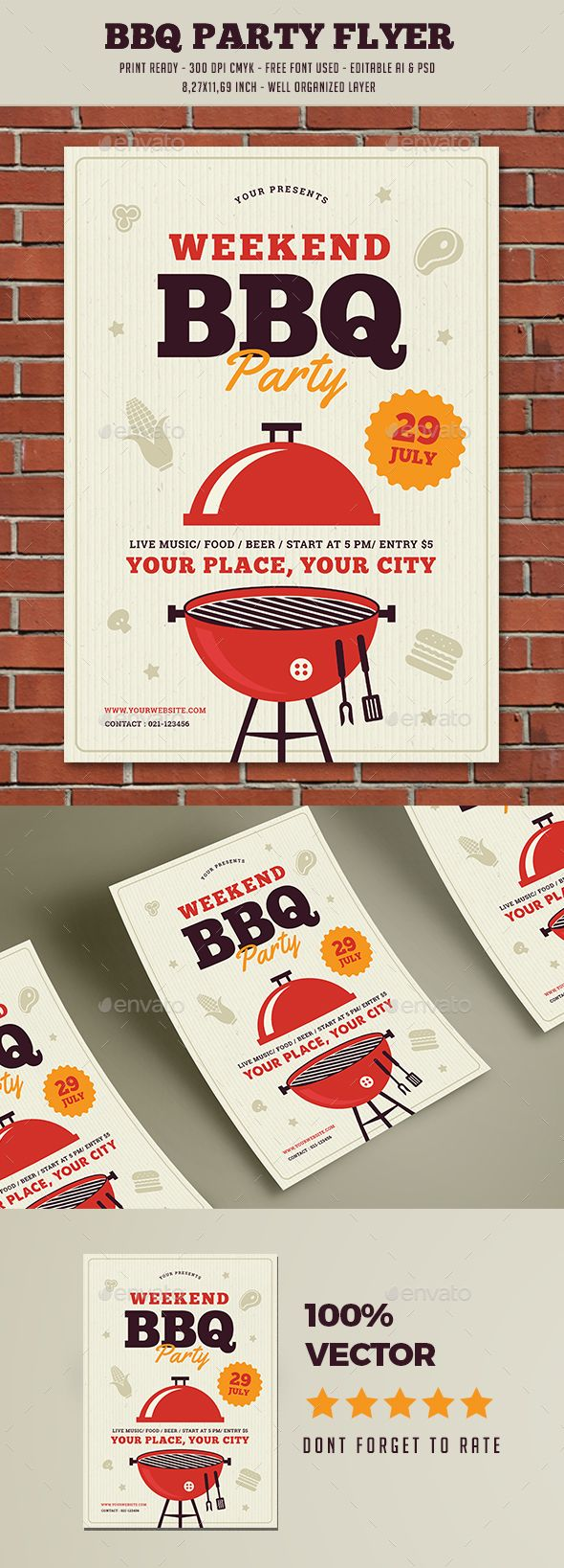 1087 Best Retro Vintage Flyer Template Images On Pinterest