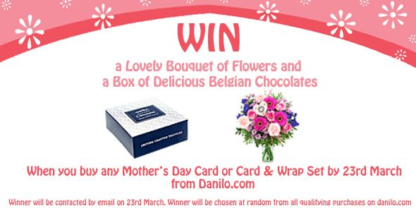 Buy any Mother's Day Card or Gift Wrap Set at bit.ly/SeasonalCards before 23rd March & you will automatically be entered into our prize draw to #WIN a lovely bouquet of flowers & box of Belgian chocolates!! :)