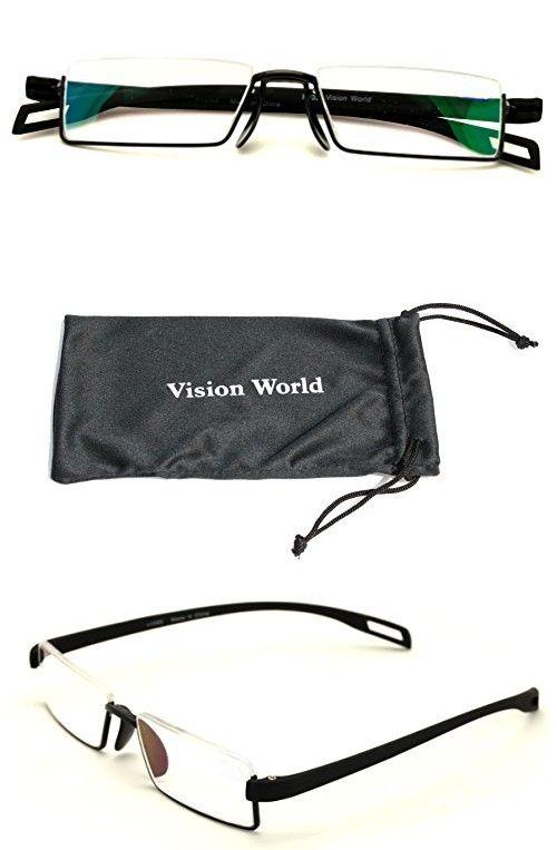 V.W.E. Lightweight Rectangle Memory Flex Frame Clear Lens glasses RX ...