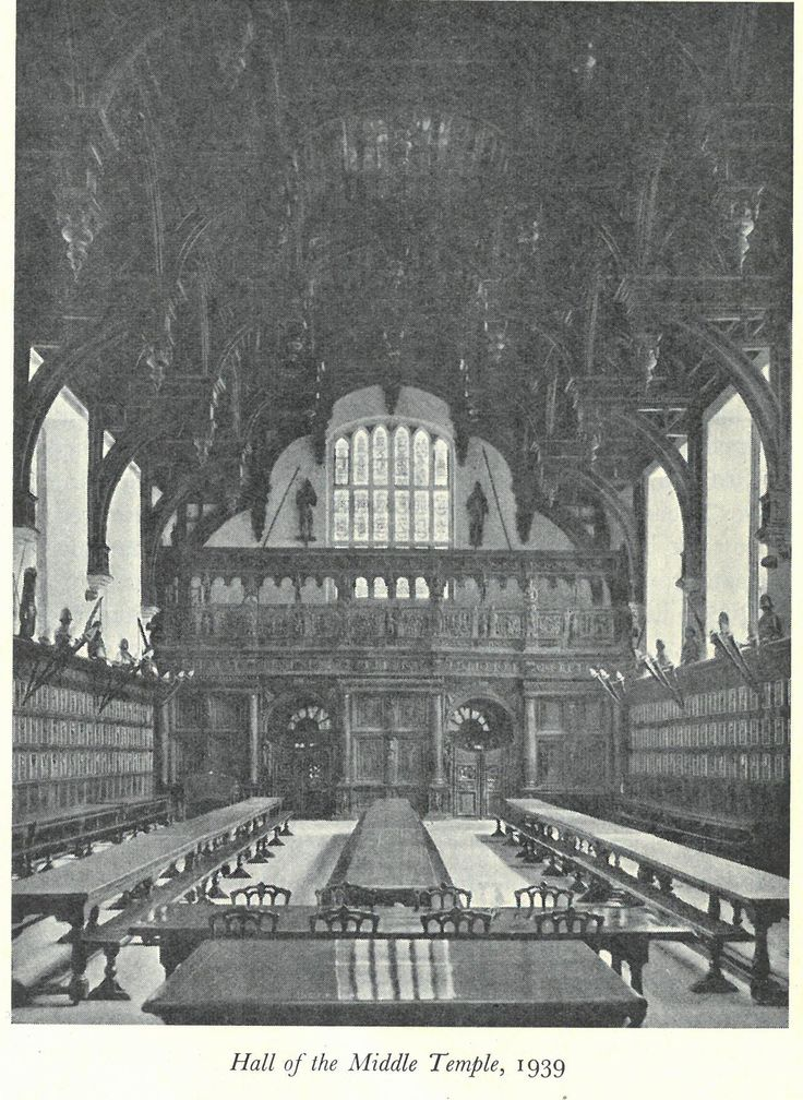Middle Temple Hall in 1939