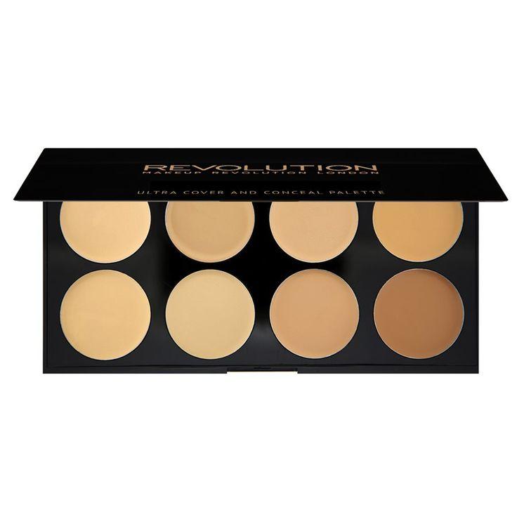 Makeup Revolution Ultra Cover and Concealer Palette Light – Medium 10g