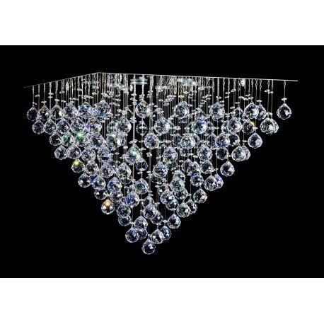 Kryształowa kaskada - żyrandol do pięknego i nowoczesnego wnętrza!