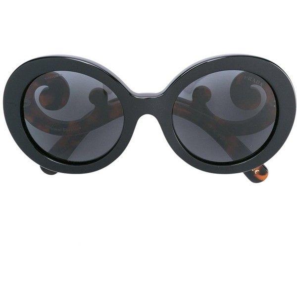 Prada Eyewear Minimal Baroque sunglasses (£290) ❤ liked on Polyvore featuring accessories, eyewear, sunglasses, brown, brown sunglasses, brown glasses, acetate sunglasses, baroque sunglasses and acetate glasses