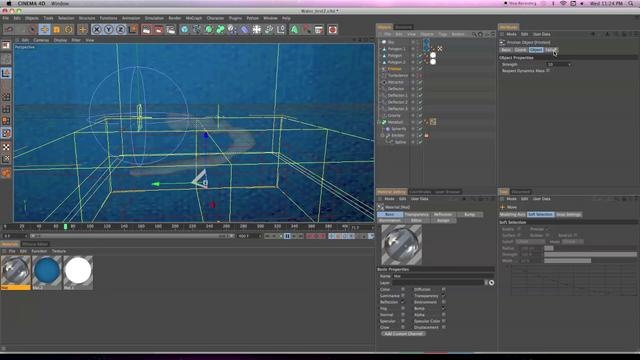 Water & Liquid Tutorial C4D (No External Software) by Visual Accuracy. Its a bit long, I wanted to go over as many details as possible so most user could understand and follow alone.
