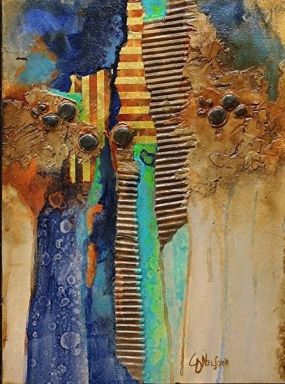 Washboard, 072017 by Carol Nelson mixed media ~ 14 inches x 9 inches