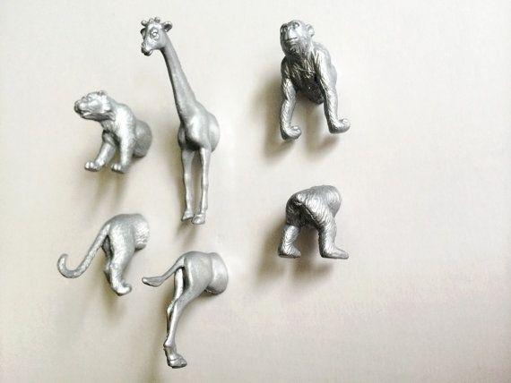 Animal Magnets Silver Safari Animal Magnets by KernelPanicDC
