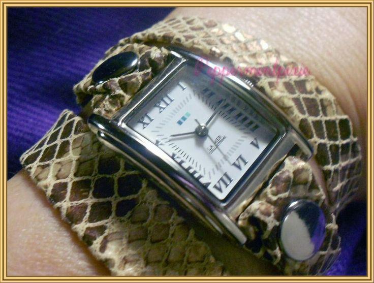 La Mer Cobra Snake Print Wrap Watch LMSTW6000 sparkles Unique Gift On Sale New #LaMer #Fashion