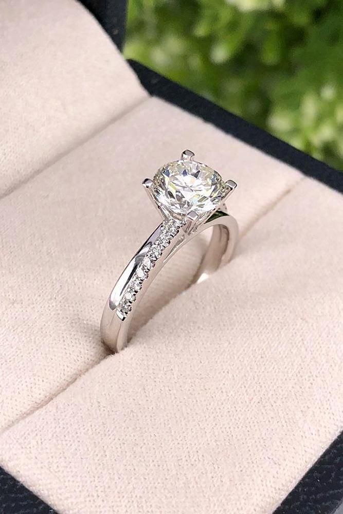 27 White Gold Engagement Rings To Conquer Your Love Top Engagement Rings White Gold Engagement Rings White Gold Diamond Engagement Ring