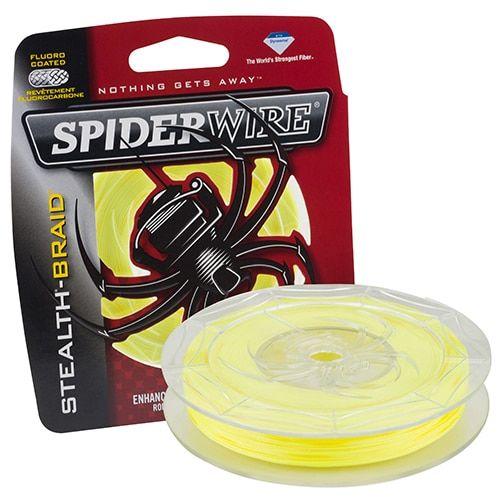 """Spiderwire Stealth Braid Superline Line Spool 200 Yards, 0.008"""" Diameter, 10 lbs Breaking Strength, Hi-Vis"""
