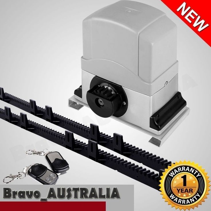 Sliding Electric Gate Opener 1200KG Automatic Motor Remote Kit with 6m Rail