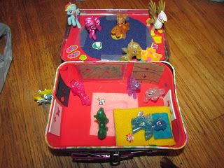 Simply Blessed Journey of Life: DIY Portable Travel Playsets - my daughters made these fun homes for their My Little Pony/Littlest Pet Shop dolls.