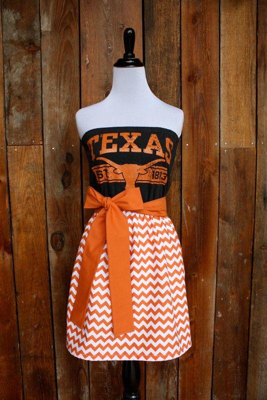 University of Texas Longhorns Game Day Dress by Jill Be Nimble