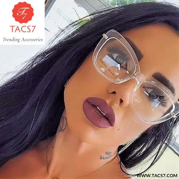 1dbef12b6f Ladies Cat Eye Glasses Frames Women Red Pink Optical Eyeglasses Fashion  Prescription Eyewear Computer 45366 Trending