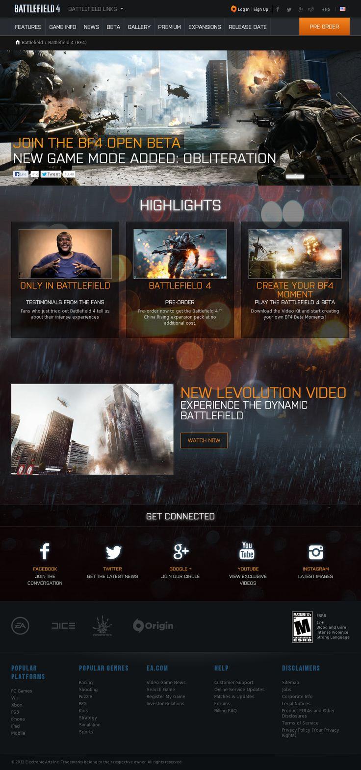 Layout photoshop web design website template tutorials tutorial 022 - Website Http Www Battlefield Com Battlefield 4