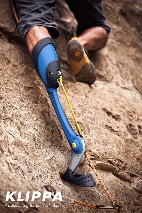 A Mountain Goat-Inspired Prosthetic Leg for Rock Climbing Klippa: a prosthetic leg designed for rock climbing.