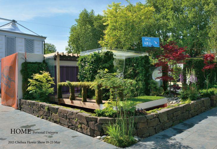 「HOME」チェルシーフラワーショー2015   自動散水、人工竹垣、庭園資材のグローベン株式会社